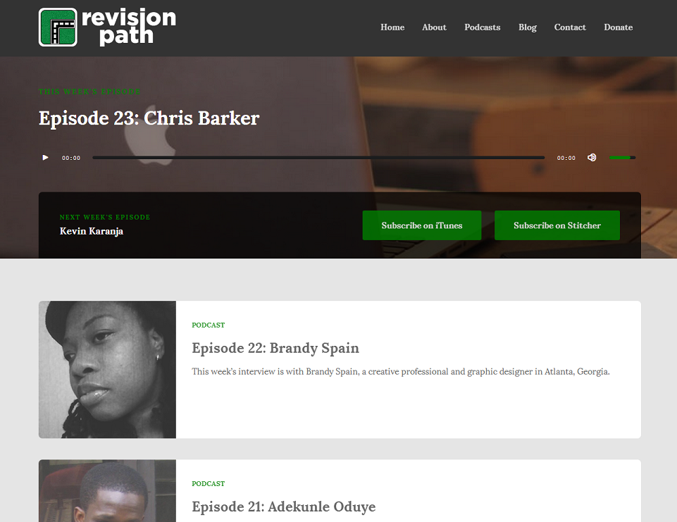 Revision Page Homepage