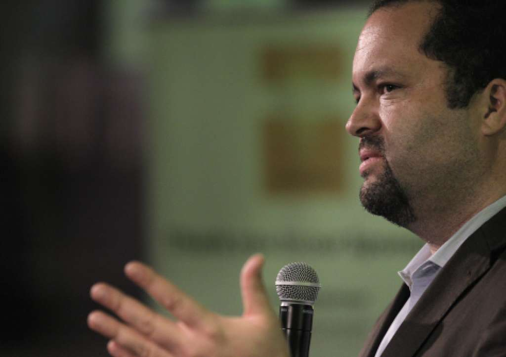 Former President of the NAACP Ben Jealous speaking at the Fairness Matters Forum sponsored by Twitter, c. 2015.  Source: Carlos Avila Gonzalez / The San Francisco Chronicle