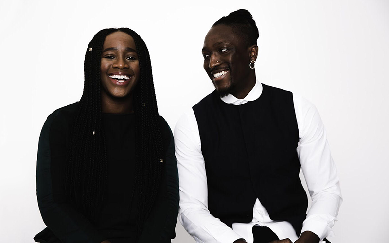 Karen Okonkwo (left) and Joshua Kissi, the founders of TONL.